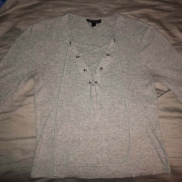 TOPSHOP lace up top