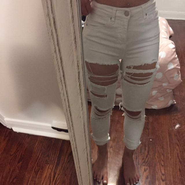 topshop rip jeans