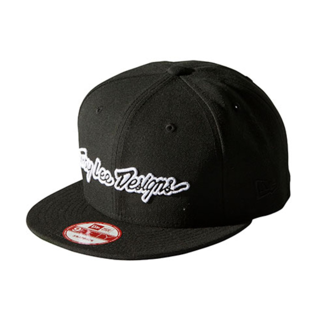 9fbebba504166 Troy Lee Designs - Classic Signature Snapback Hat (Black White ...