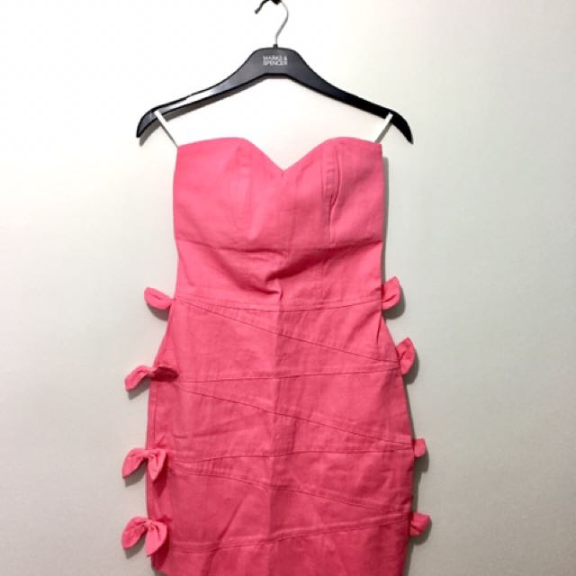 Tube Dress With Side Ribbons