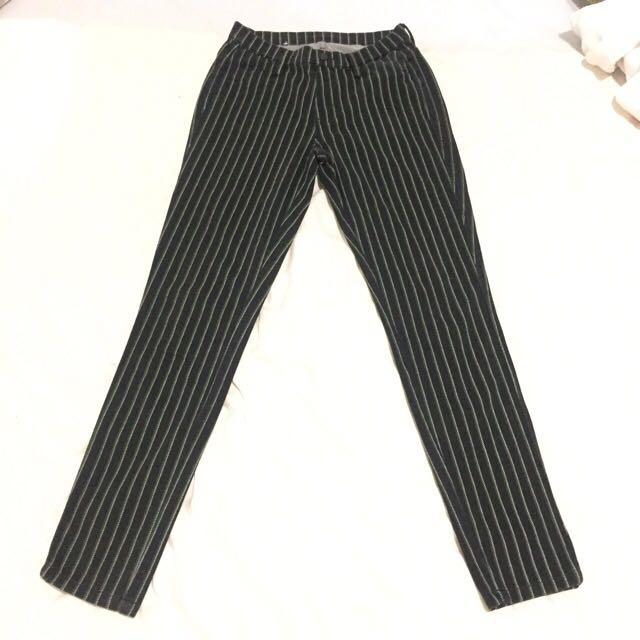 Uniqlo striped jeggings