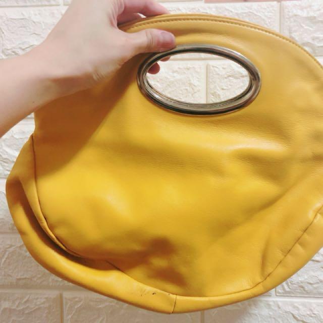 VOGUE CAST超時尚黃色手提包(免運)