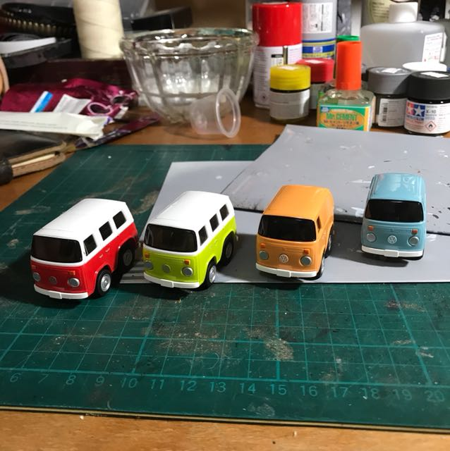 Volkswagen Choro-Q mini bus vintage colours