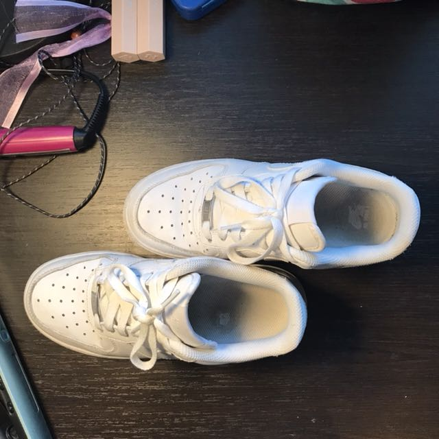 White Nike AF1 size 6