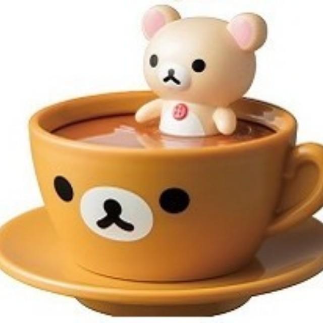 〝新品〞【動漫收藏】麥當勞x拉拉熊 聯名款玩具 6號-小白熊旋轉牛奶杯款