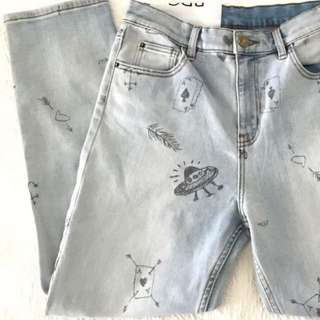 Urban Outfitters BDG Graffiti girlfriend jeans