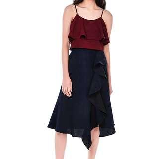 TEM Jesamyn Ruffle Midi Skirt