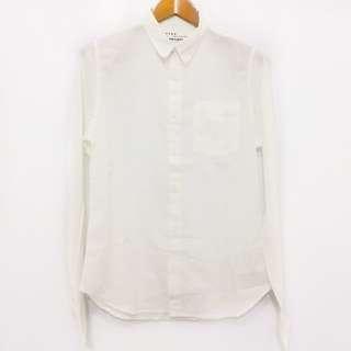 FSBN Super Slim Fit White Long Sleeve Shirts