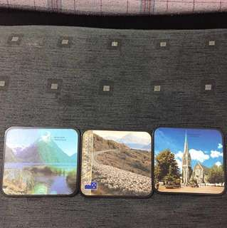 6 wooden scenic New Zealand Coasters