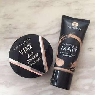 Maybelline Contour Powder + Naturally Matte Foundation Bundle
