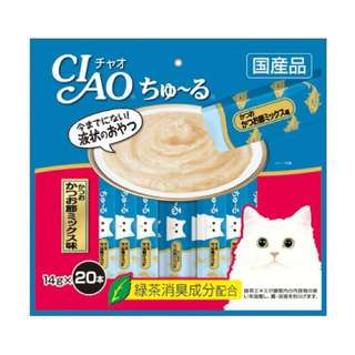 Ciao Churu Cat Treat (Tuna Dried Bonito Mix) 14gx20