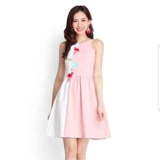 Portrait of Spring Dress in Rose Pink