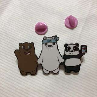 Bear Brothers for Life Enamel Pin Brooch