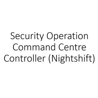Security Operation Command Centre Controller