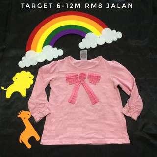 Target Pink Rubbon Long Sleeve Tee (Tshirt Kanak Kanak)