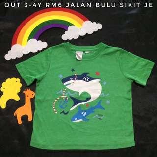 Baby Shark Green T shirt (Tshirt Kanak Kanak)