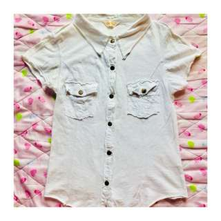 Button Polo Blouse