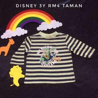 Disney Stripe T-Shirt (Tshirt Kanak Kanak)