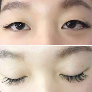 Classic Eyelash Extensions (Single Strands)  C curl 9-12mm