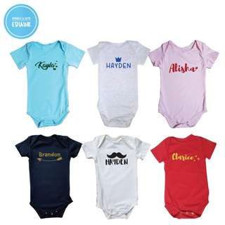 Customised Baby Romper - with name print