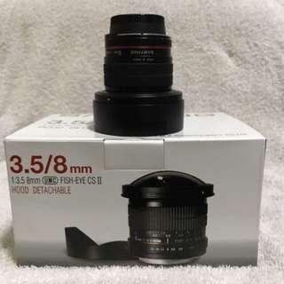 Samyang Nikon Mount. 8mm UMC Fisheye Lens