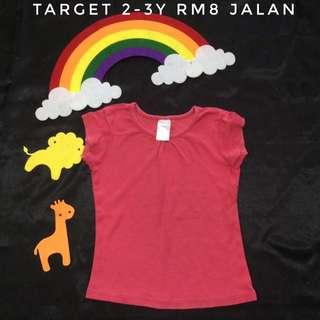 Target Red Top (Tshirt Kanak Kanak)