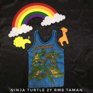 Ninja Turtle 2y Singlet (Tshirt Kanak Kanak)