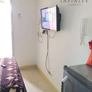 disewakan apartemen green bay studio full furnished