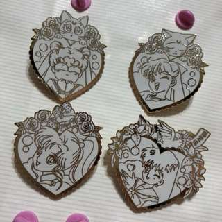Sailor Moon Enamel Pin Brooch Set of 4