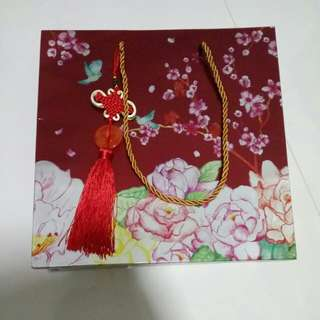 Chinese New Year Bee Cheng Hiang Paper Bag With Charm