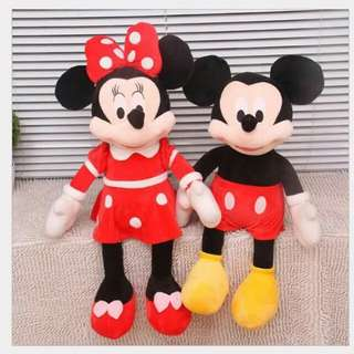 Mickey or minnie mouse stuff toy 4.5ft to 2ft