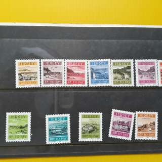 JERSEY - 1982 - Postage Dues - Unused Mint 12 Stamps Collection - fd02