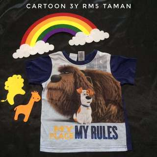 Cartoon Movie Characters T-Shirt (Tshirt Kanak Kanak)