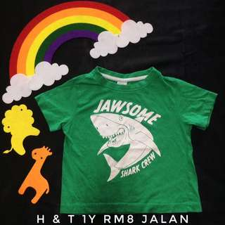 Green Shart 1y Baby T-Shirt (Tshirt Kanak Kanak)