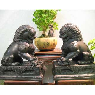 金城銀行~銅獅子錢罌一對