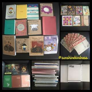 FREE Brand New assorted Notebooks & Lecture Pads TO BLESS