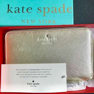 Katespade Laurie Cherry Lane Tech Wallet Gold (fits iphone7plus)