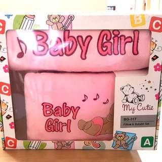 Baby girl Pillow & Bolster Set