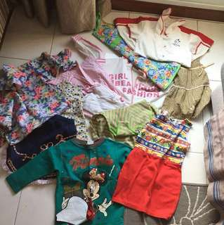 Girl clothings from $1 to $8