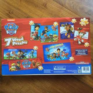$20 Paw Patrol - 7 Sets of Wood Jigsaw Puzzles