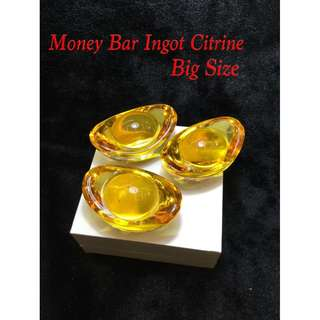 Money Bar Ingot Citrine For Display
