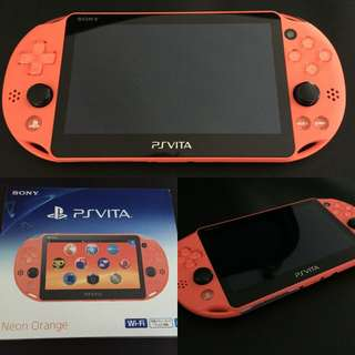 ●PS VITA CONSOLE- NEON ORANGE(MODEL PCH 2006 WITH WIFI)
