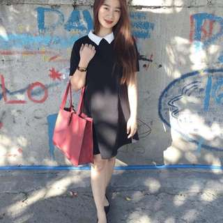 FOREVER 21 COLLARED MAINE DRESS