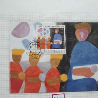 LIECHTENSTEIN - 2000 - Souvenir Miniature Sheet on Painting Cancelled Stamp