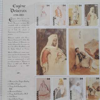GAMBIA - Souvenir Miniature Sheet ON Eugene Delacroix , Paintin Thematic - fd09