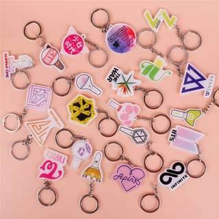 Kpop keychain(bts/exo/wanna one/twice/blackpink/seventeen/bigbang/got7/gfriend) #CNY88