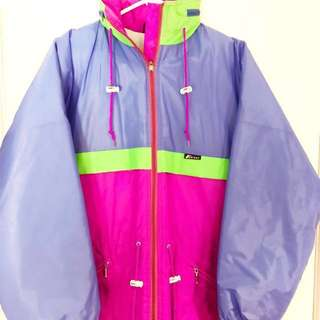 Vintage K-Way Multicoloured Lightweight Insulated Zip Up Ski Jacket