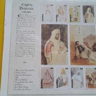 GAMBIA - Souvenir Miniature Sheet ON Eugene Delacroix , Painting Thematic - fd12