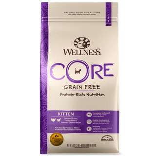 (Kitten, Original & Indoor) Wellness Core Cat Food 5lbs