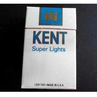 包郵 超純健牌香煙 KENT SUPER LIGHTS  廣告品 - 火柴 1盒 (199X年)